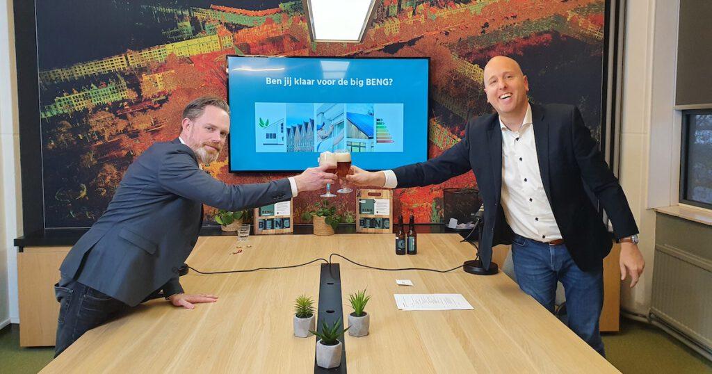 Joost Hartman en Paul Bier na afloop van BENG webinar - PH Bouwadvies